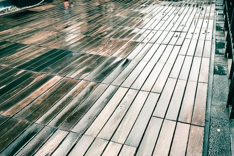 Pressure washing services for terrace in London